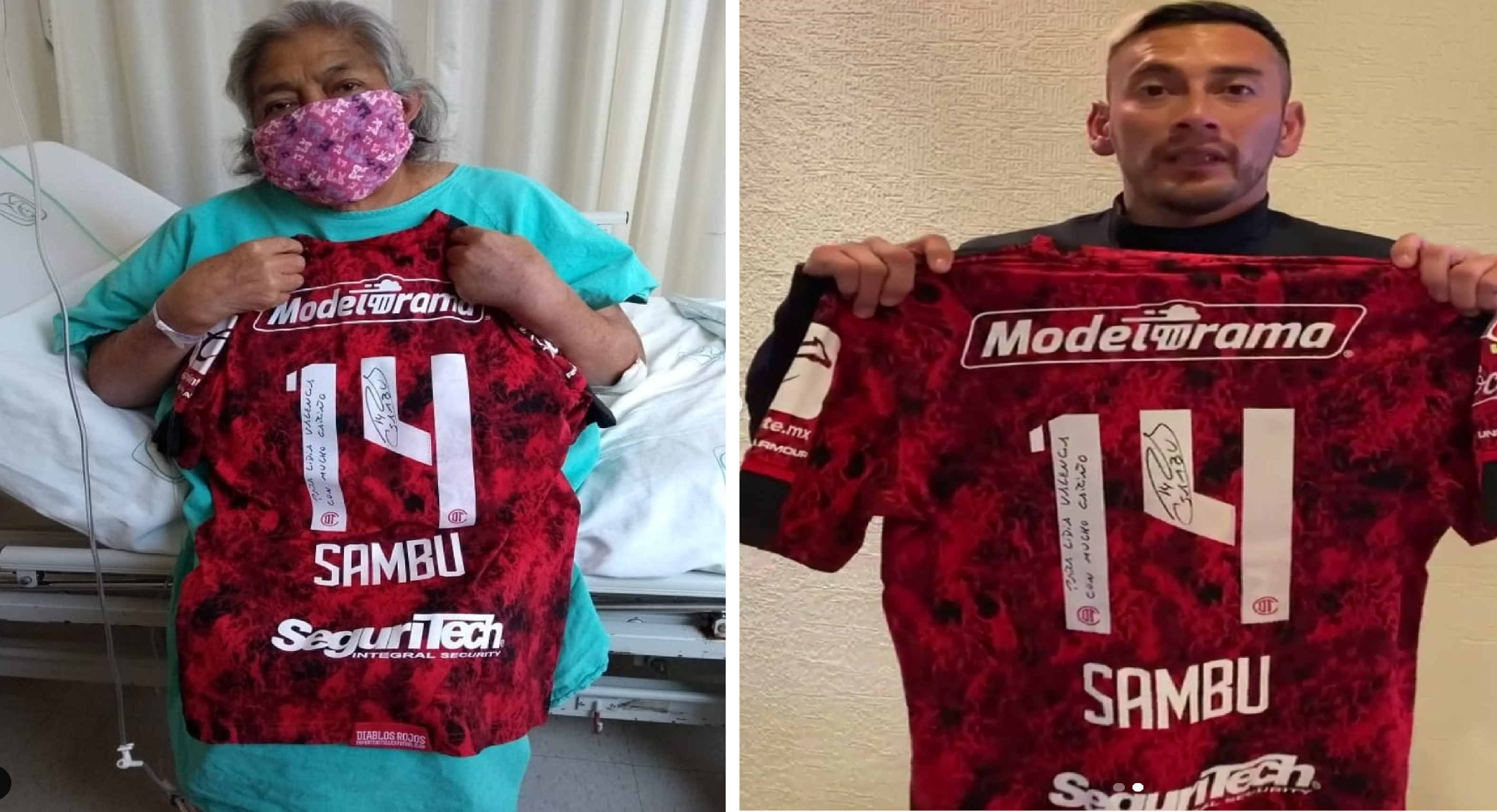 Abuelita hospitalizada recibe jersey autografiado de Rubens Sambueza || VIDEO