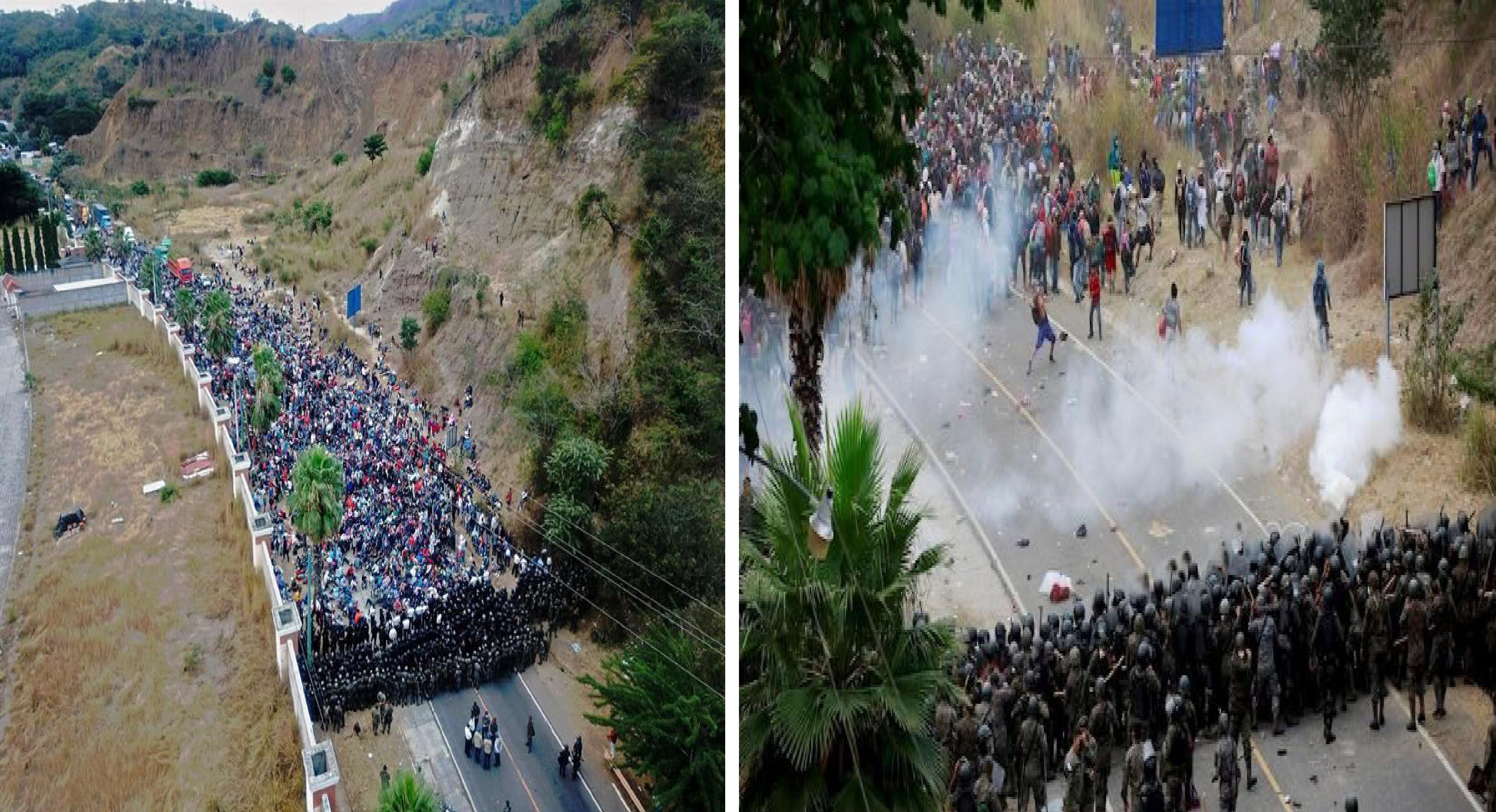 Caravana migrante 2021 es reprendida a golpes en Guatemala || VIDEOS