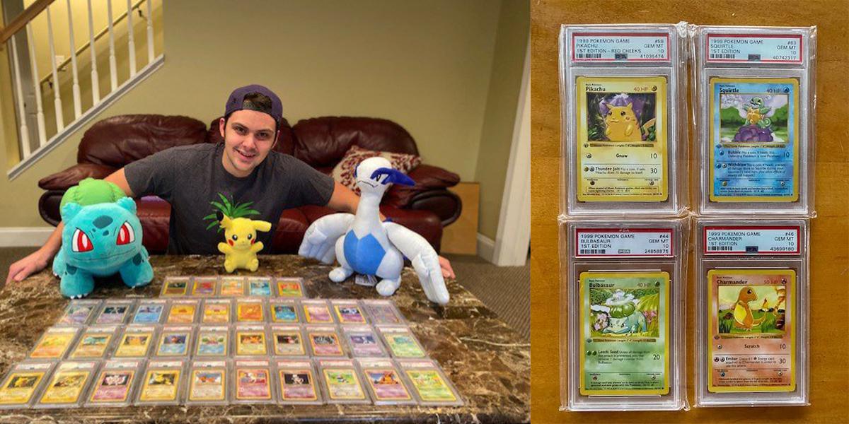Vende sus cartas de Pokémon para pagar su universidad