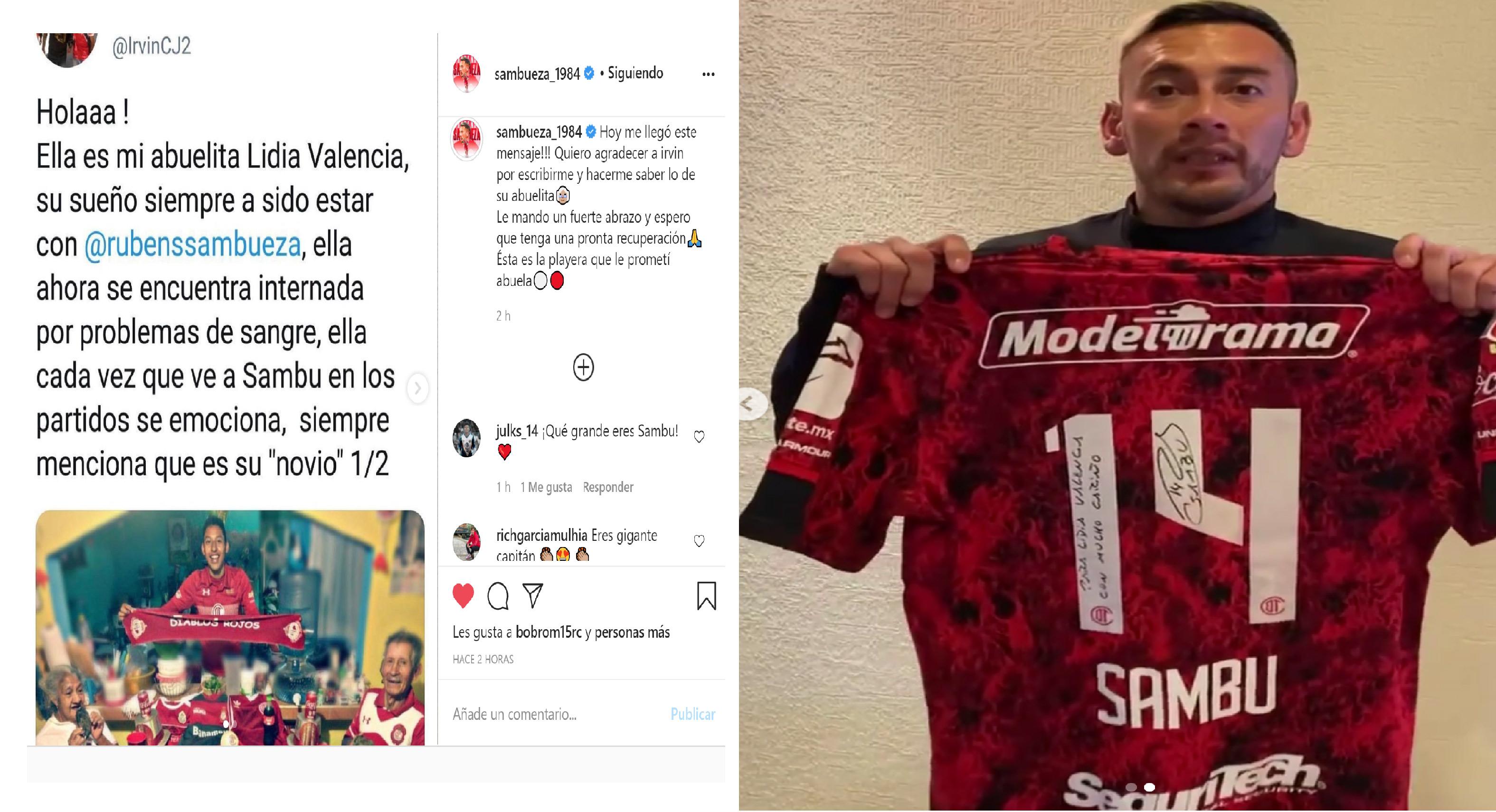 Rubens Sambueza regala jersey autografiado a fanática hospitalizada