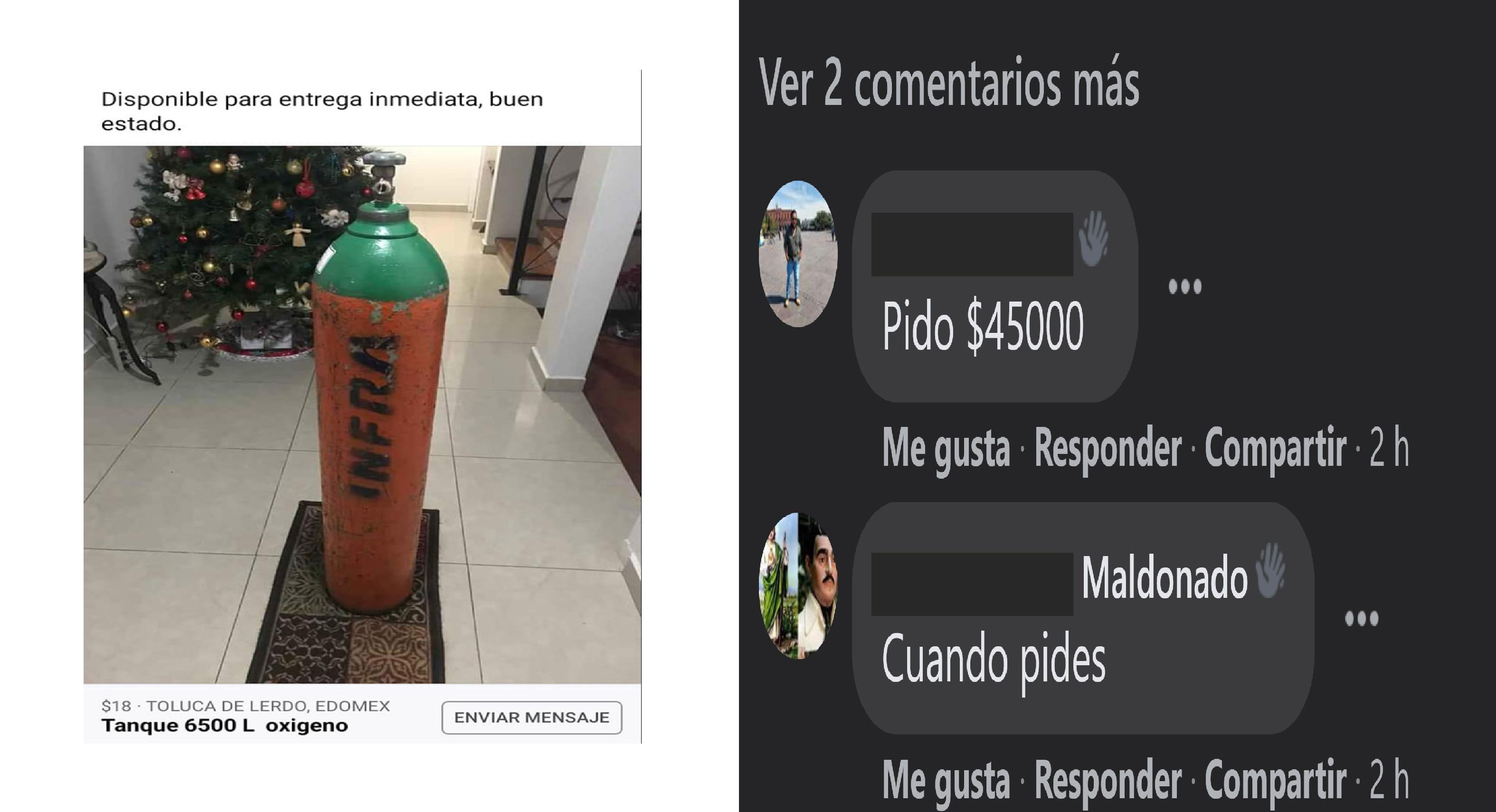 Tanques de oxígeno, abusos y estafas en grupos de Facebook en Toluca