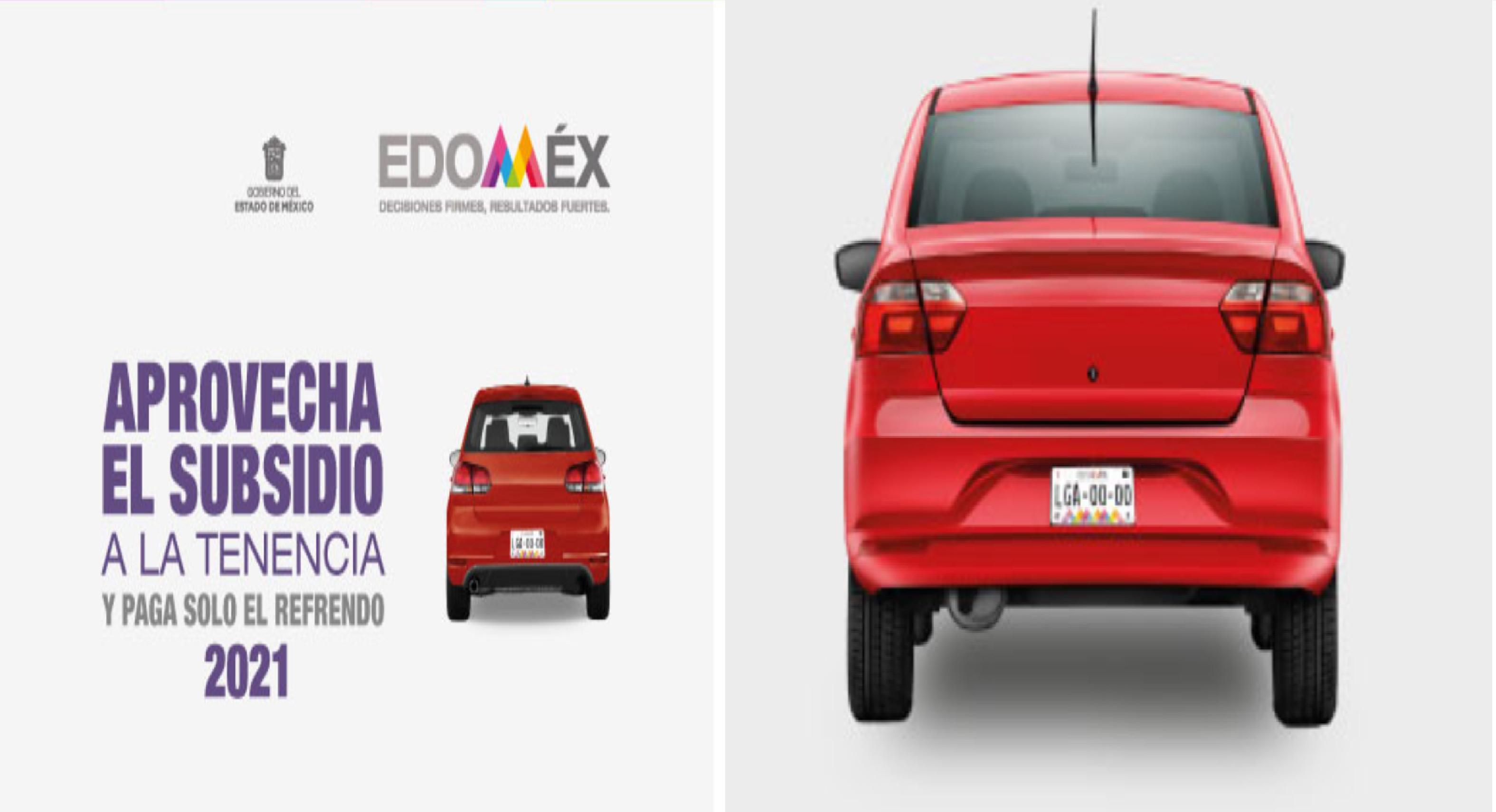 tenencia EDOMEX 2021 Conoce cómo obtener un subsidio del 100 por ciento