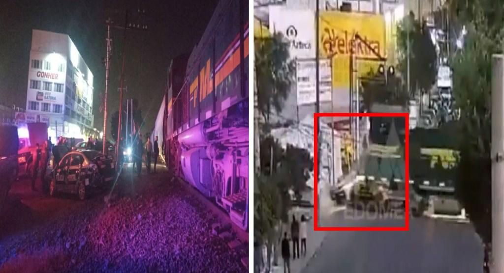 Tren colisiona con patrulla de Ecatepec, Estado de México