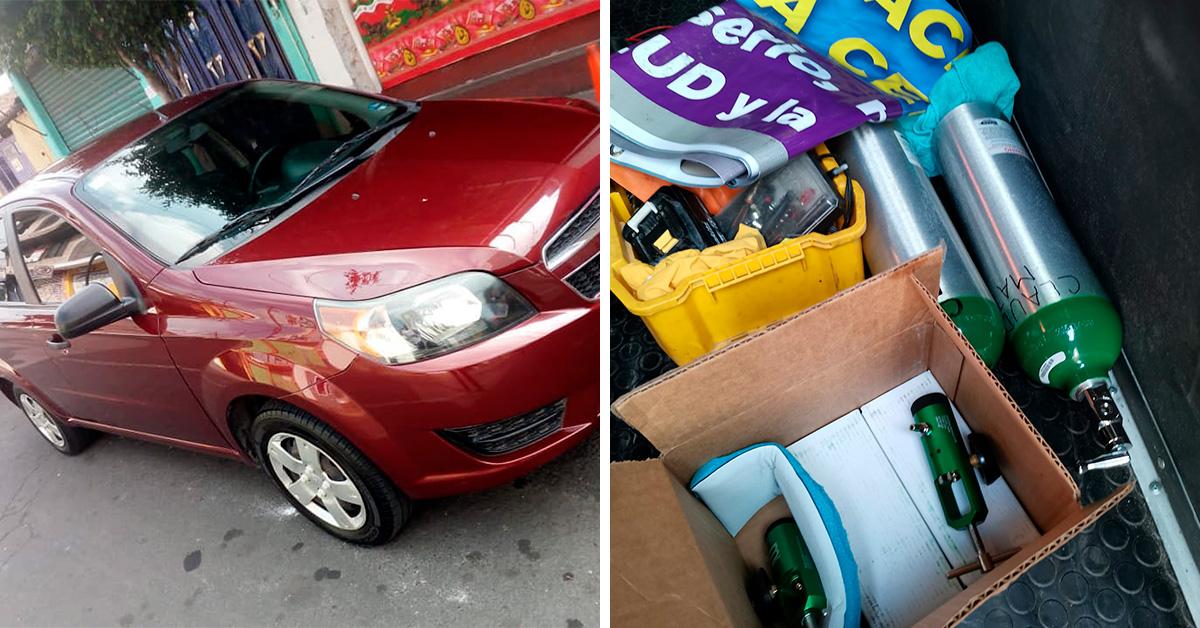 CDMX: Paramédico vende su auto para apoyar a la gente con tanques de oxígeno