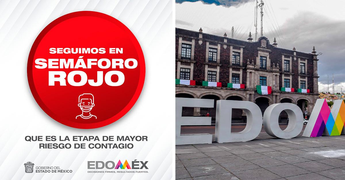 Edomex seguirá en semáforo rojo la próxima semana informa Alfredo del Mazo