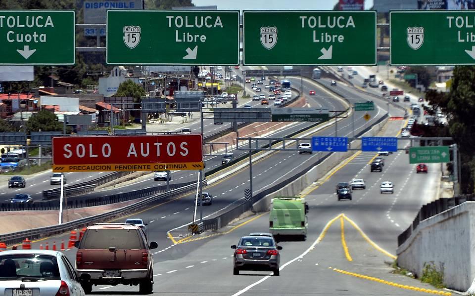 Aumentan este miércoles precio de autopistas del Edomex