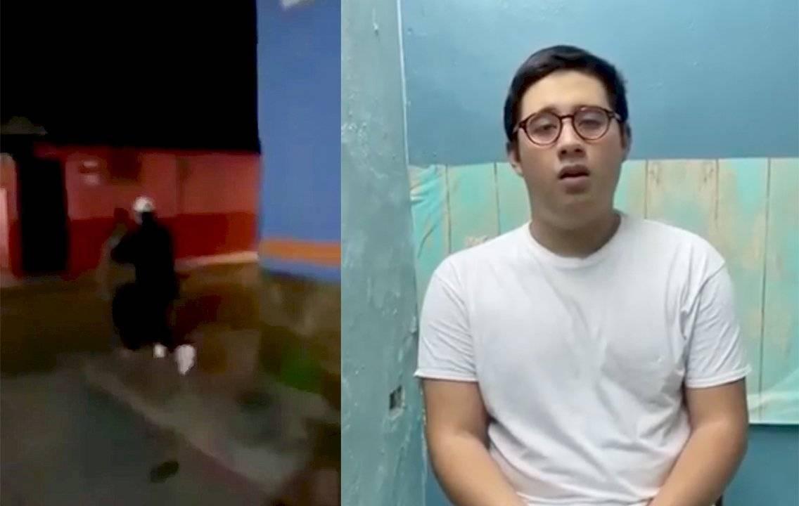Joven llora y pide perdón después de empujar a adulto mayor en Chiapas || VIDEO