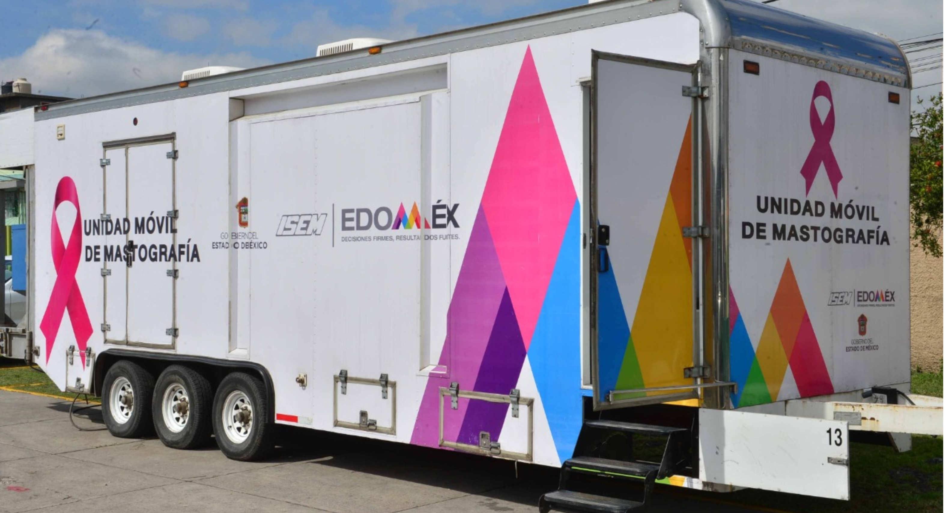Unidades móviles de mastografía en Edomex