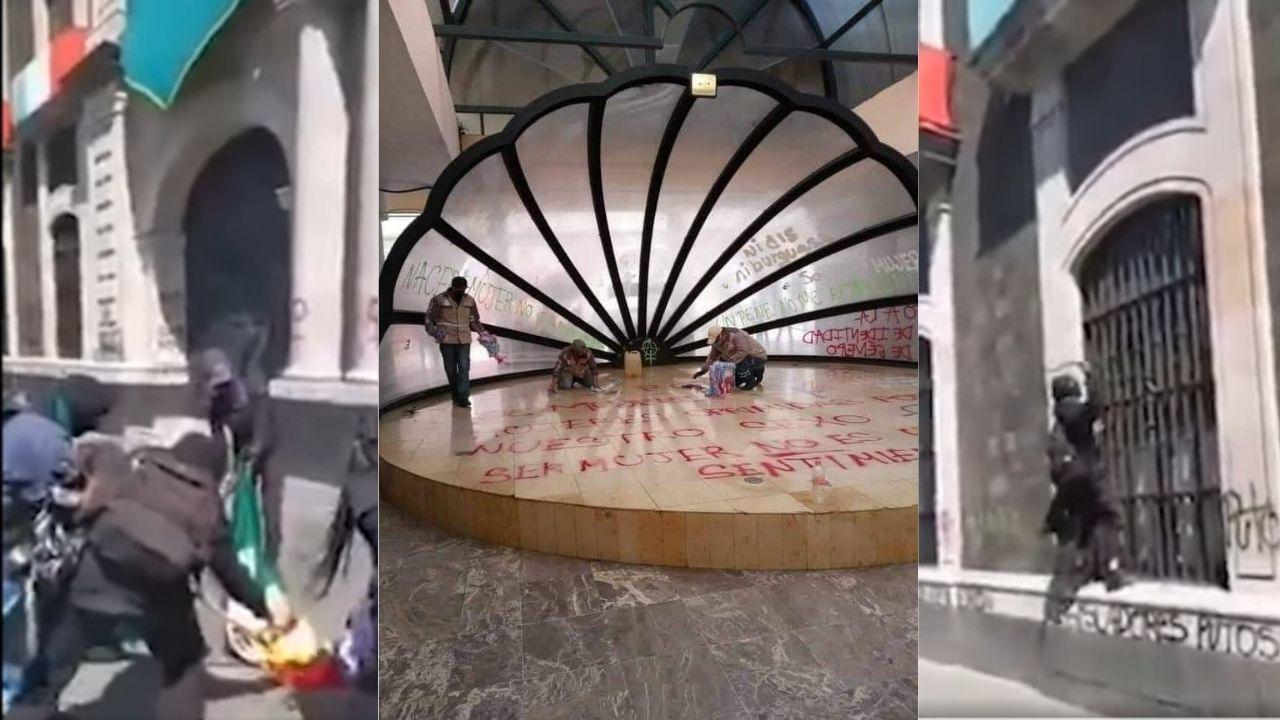 Realizan pintas en Cámara de Diputados y Concha Acústica en Toluca || VIDEO