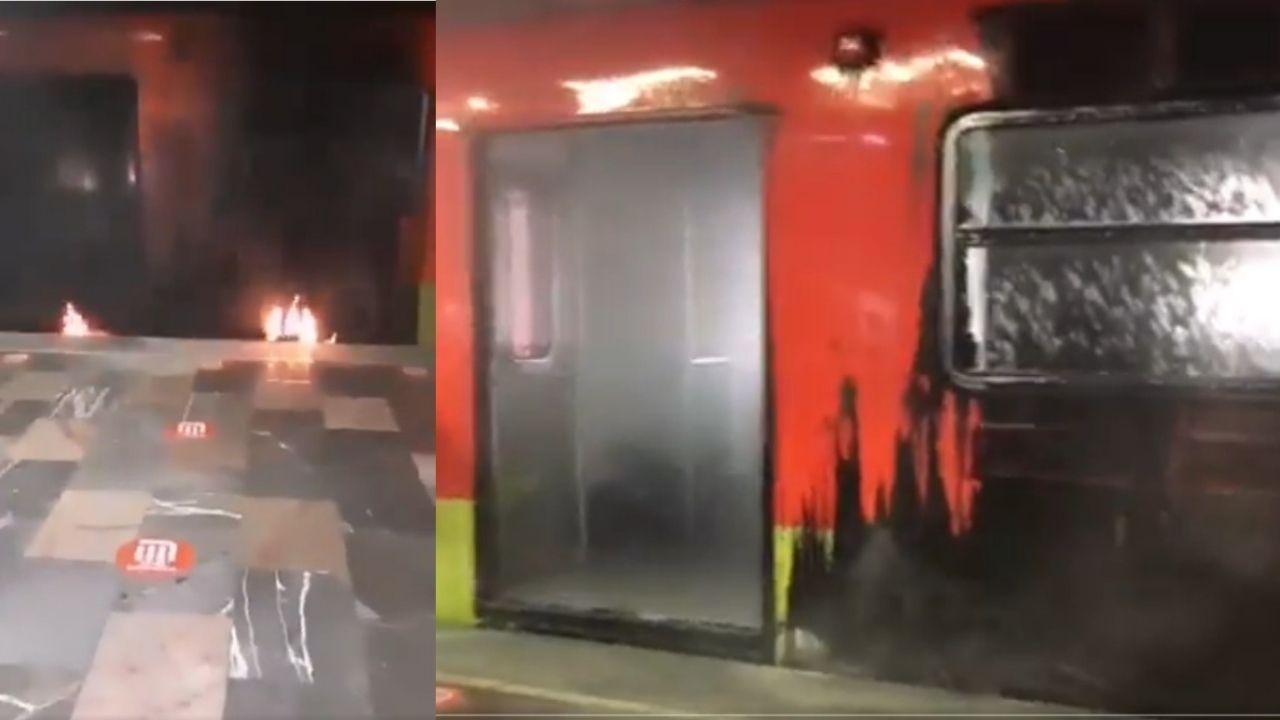 Vagón del metro se incendia en estación Indios Verdes || VIDEO