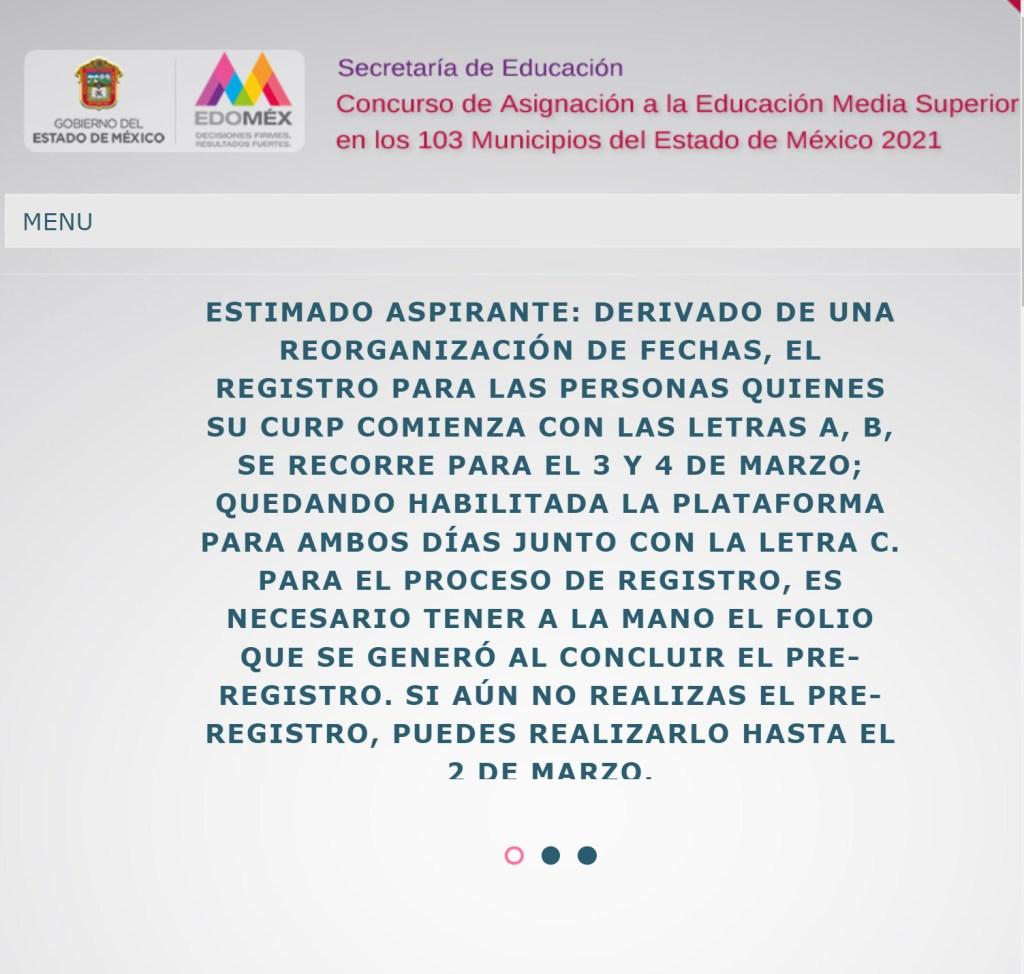 Concurso Asignación Educación Media Superior EDOMEX || Registro paso a paso