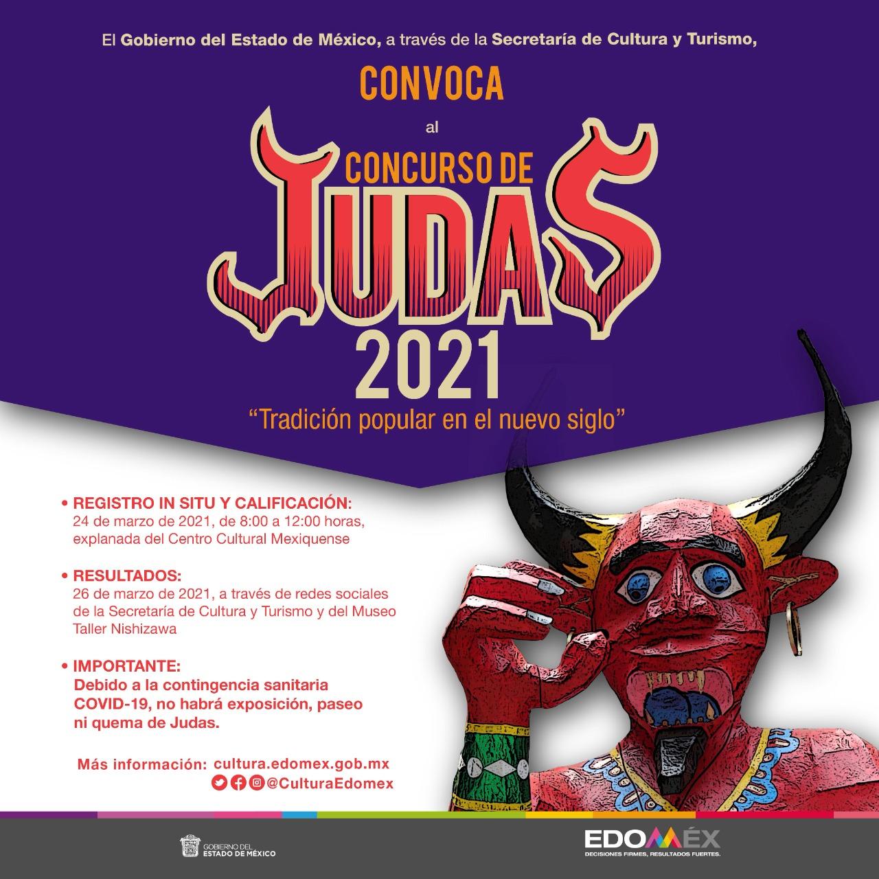 La Secretaría de Cultura y Turismo del Estado de México lanza la Convocatoria Judas 2021