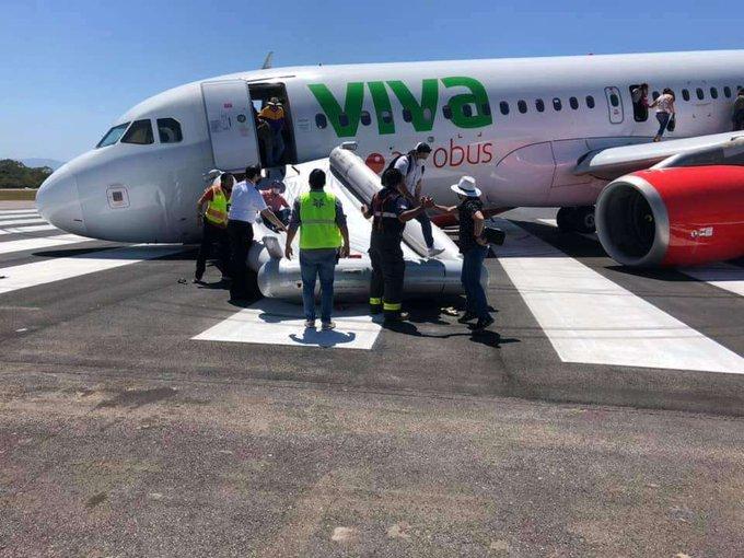 Avión sufre accidente