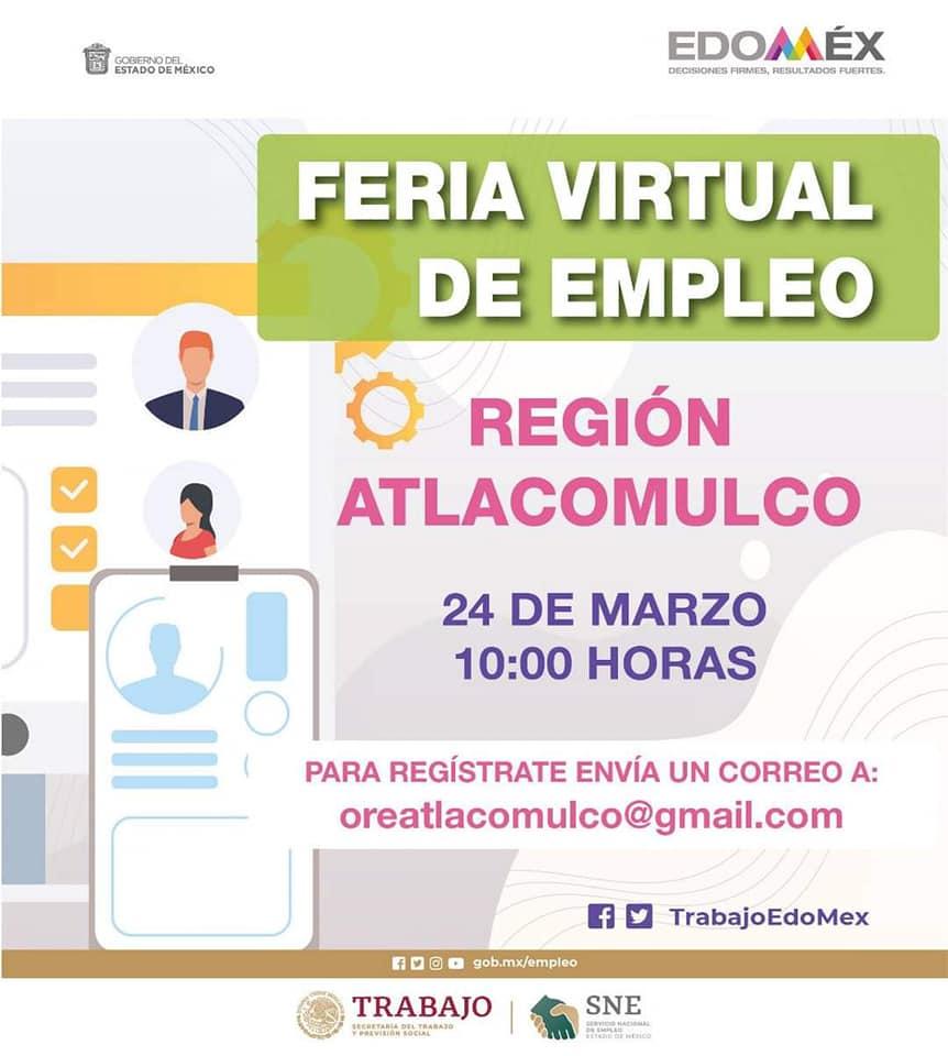 La Secretaría del Trabajo prepara tres ferias virtuales de empleo orientadas para las mujeres del Estado de México y cinco más para la población general.