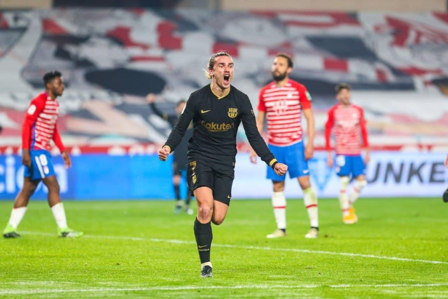 El francés Griezamann festejando un gol frente al Granada