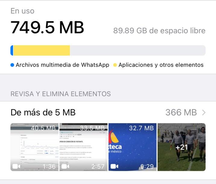 captura de pantalla para saber como borrar documentos del dispositivo