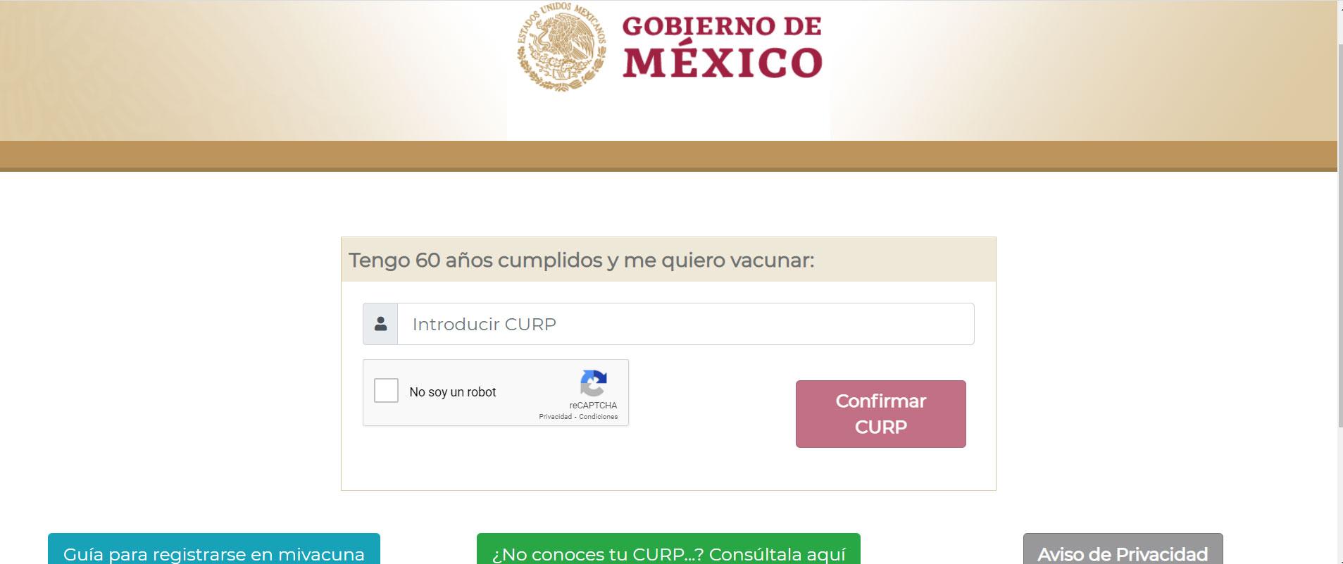 El portal Mi Vacuna es para que las personas mayores de 60 años se registren y puedan recibir la vacuna contra el COVID-19