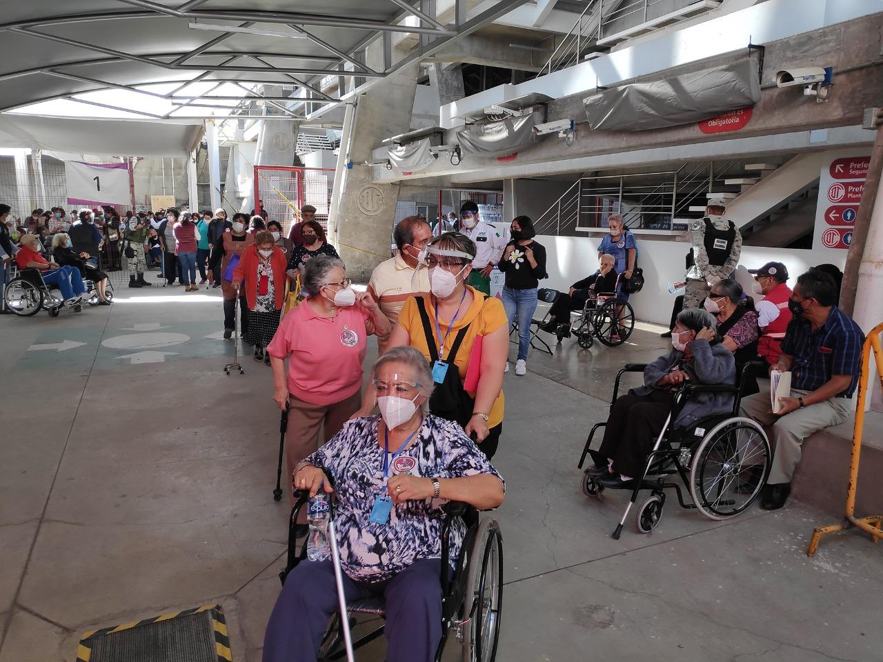 El Deportivo Toluca fue parte del inicio de un plan piloto para formar parte de la de vacunación contra COVID-19 para adultos mayores