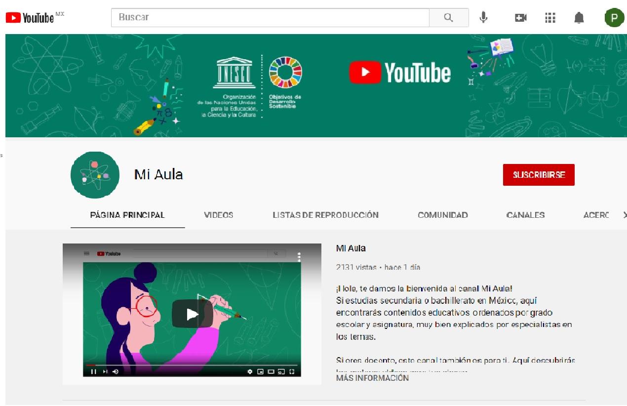 """YouTube se une a la educación virtual en México con su canal """"Mi Aula"""""""