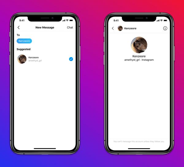 nstagram presentó una nueva función que evita que los adultos envíen mensajes a personas menores de 18 años que no los siguen