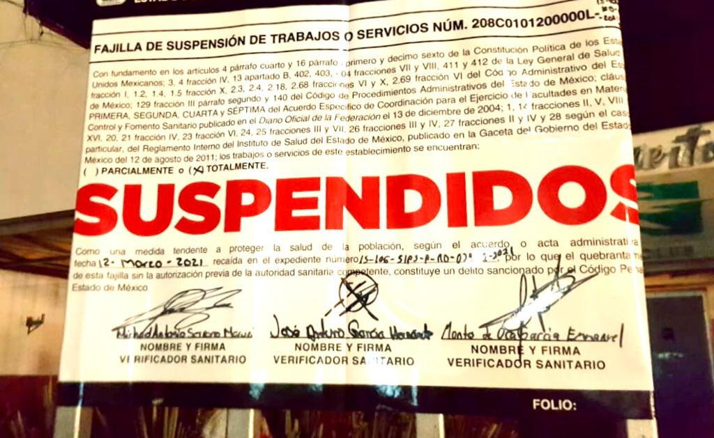 Durante la contingencia sanitaria por COVID-19, la Coprisem ha suspendido 211 establecimientos de venta de bebidas alcohólicas