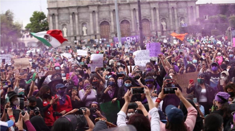 La convocatoria para la marcha en el marco del Día de la Mujer este 8 de marzo en Toluca finalizó con saldo blanco