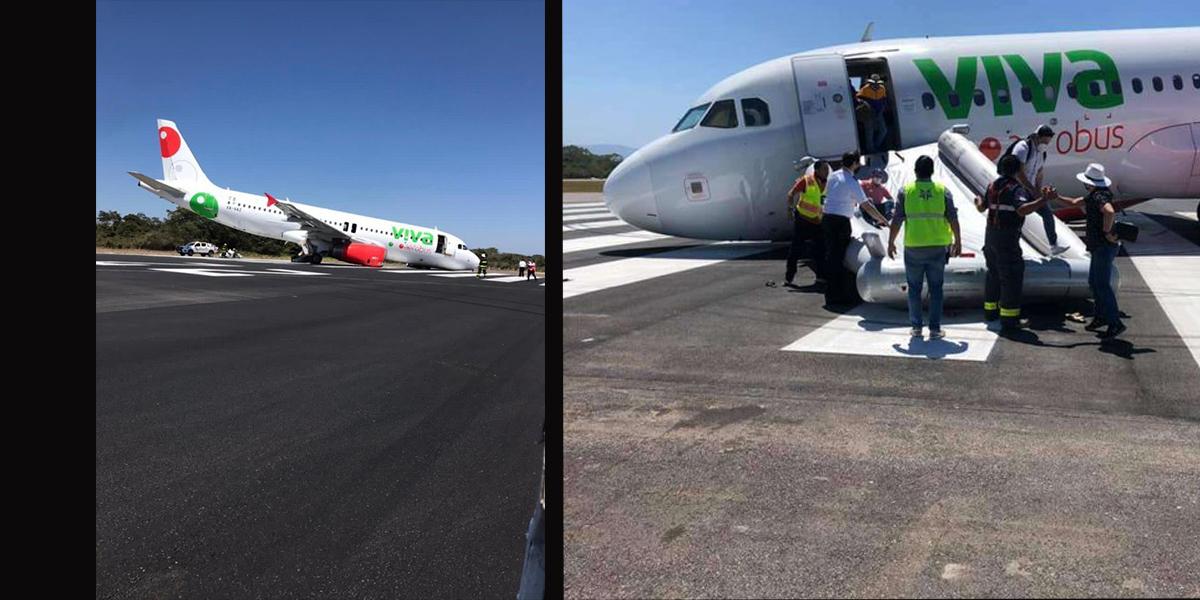 Antes de despegar avión sufre accidente en Puerto Vallarta || VIDEO