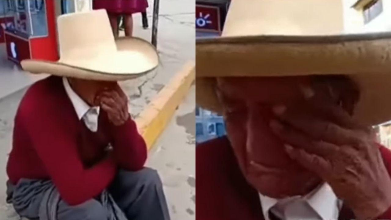 abuelito de Perú llora porque sus hijos le exigen que reparta la herencia, a pesar de que él sigue vivo