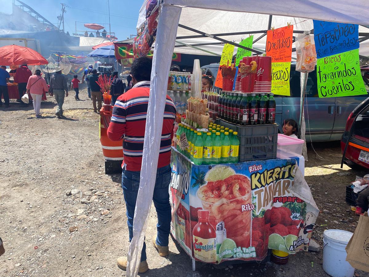 Venta de bebidas en el mercado