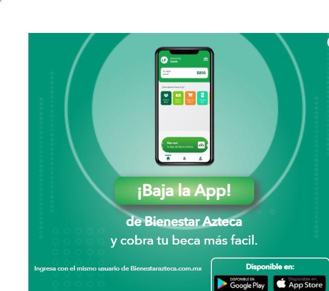 Imagen de baja la app de bienestar azteca.