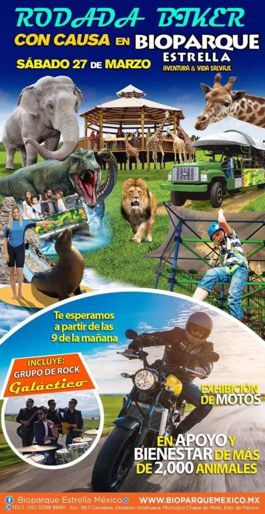 Bioparque Estrella invita a su rodada con causa y exhibición de motos