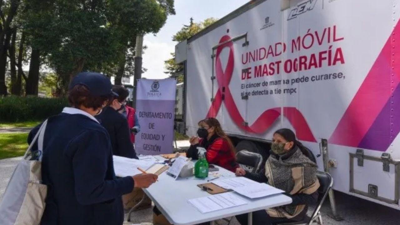Las interesadas deberán asistir para la mastografía gratuita en la fecha elegida en un horario de 9:00 a 15:00 horas en la Alameda de Toluca.