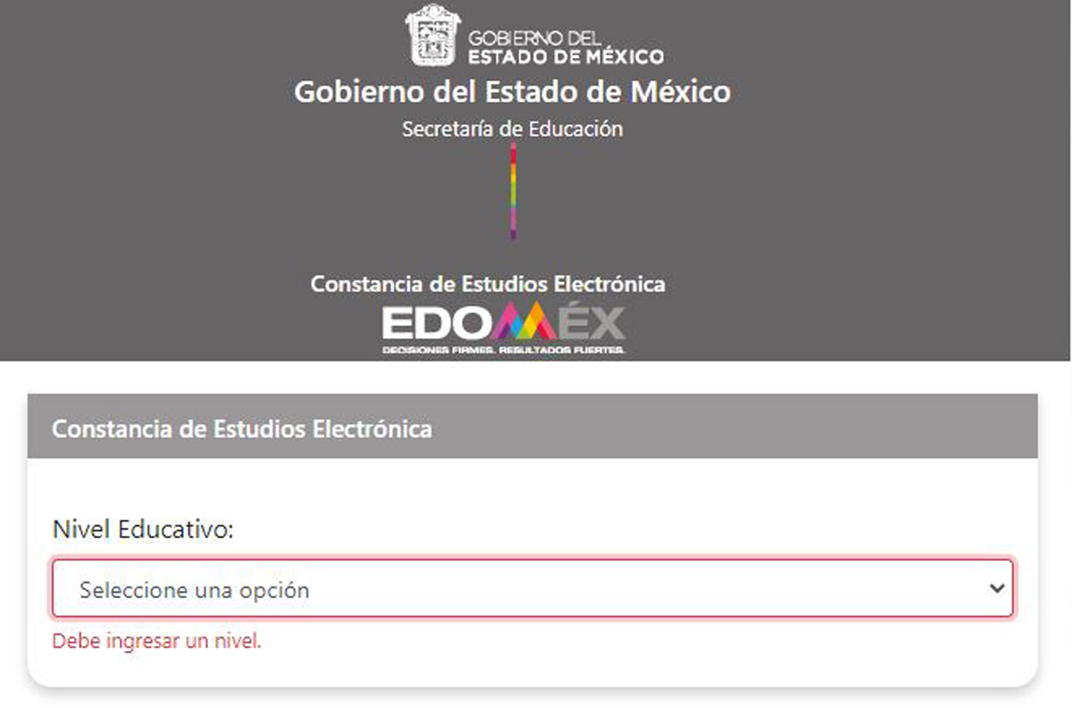 Constancia electrónica Edomex