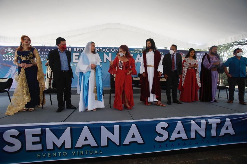 La alcaldesa de Iztapalapa presentando anunciando que el evento será de manera virtual