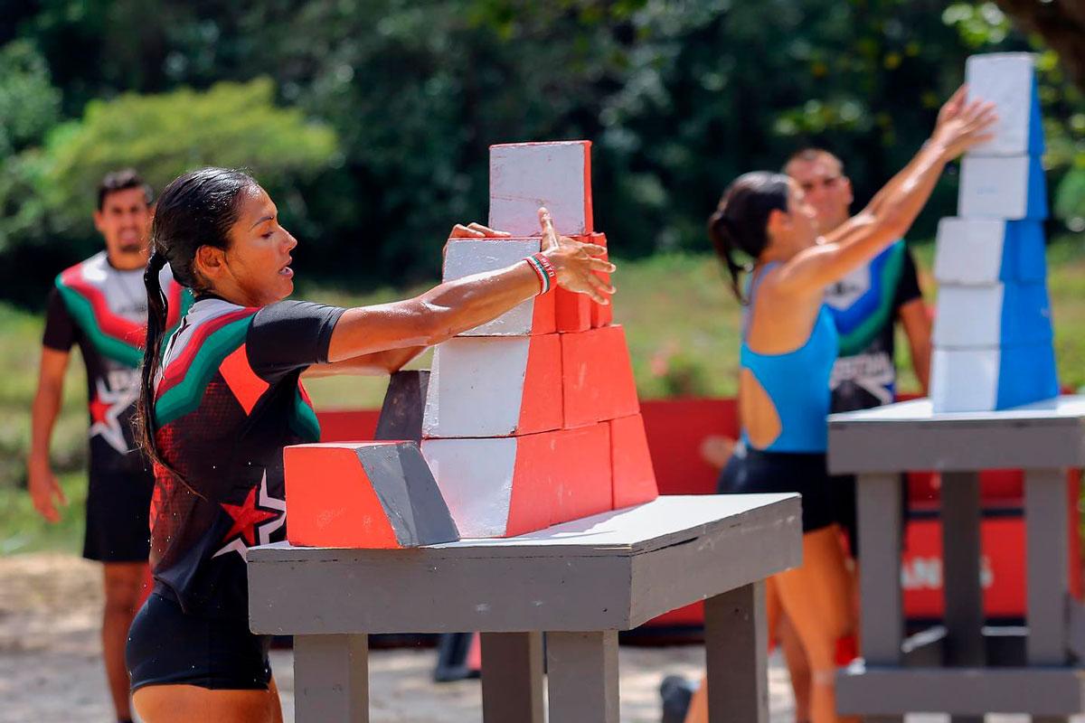 Zudikey Rodriguez en una competencia de Exatlón