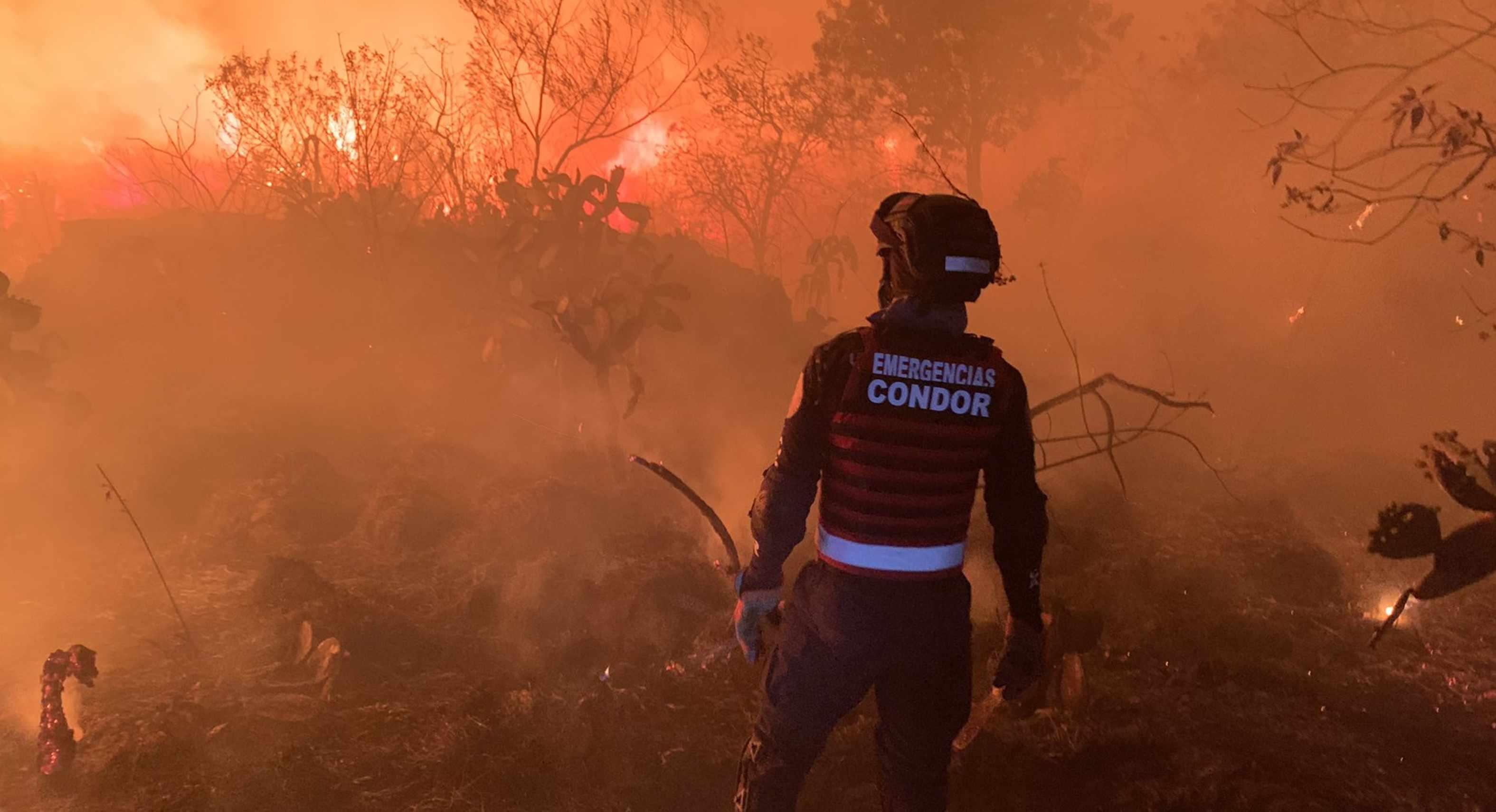 Incendio forestal en las inmediaciones de tv azteca ajusco