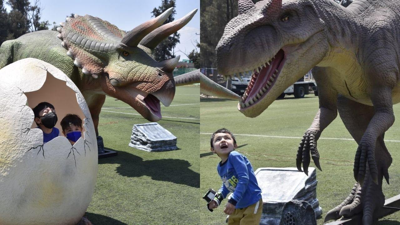 Iztapasauria es el nuevo parque de dinosaurios ubicado en el deportivo Santa Cruz Meyehualco en la alcaldía Iztapalapa en la CDMX