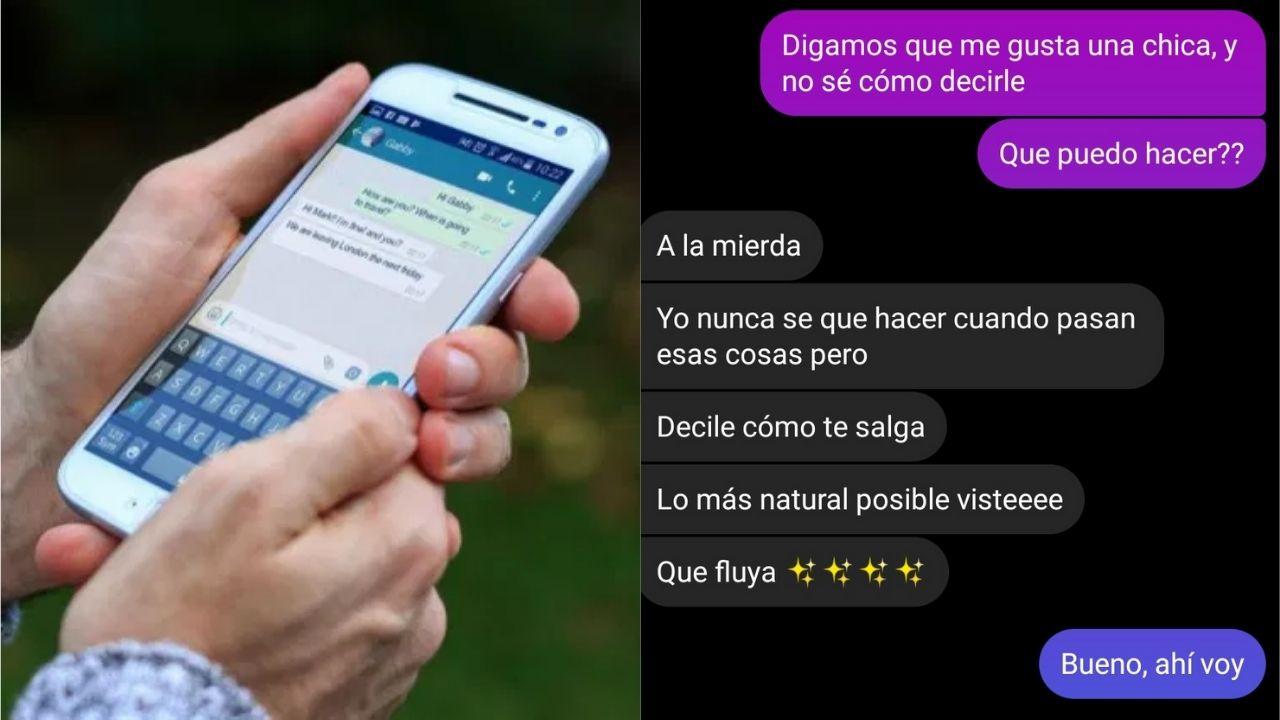 Se hizo viral la captura de pantalla de un joven que le declara su amor a una chica por whatsapp, pero ella no entiende la indirecta