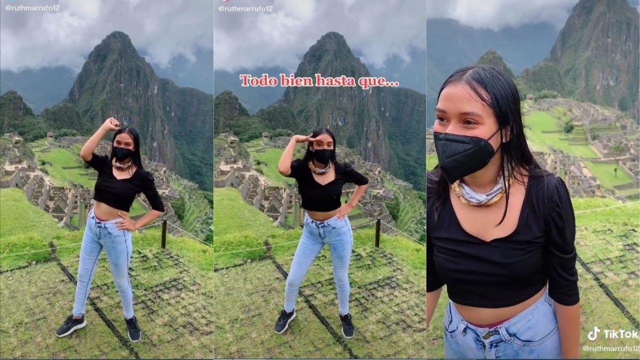 A través de redes sociales circula un video, donde una joven se puso a bailar para TikTok un Machu Picchu, Perú y personal de seguridad de la zona le llama la atención.