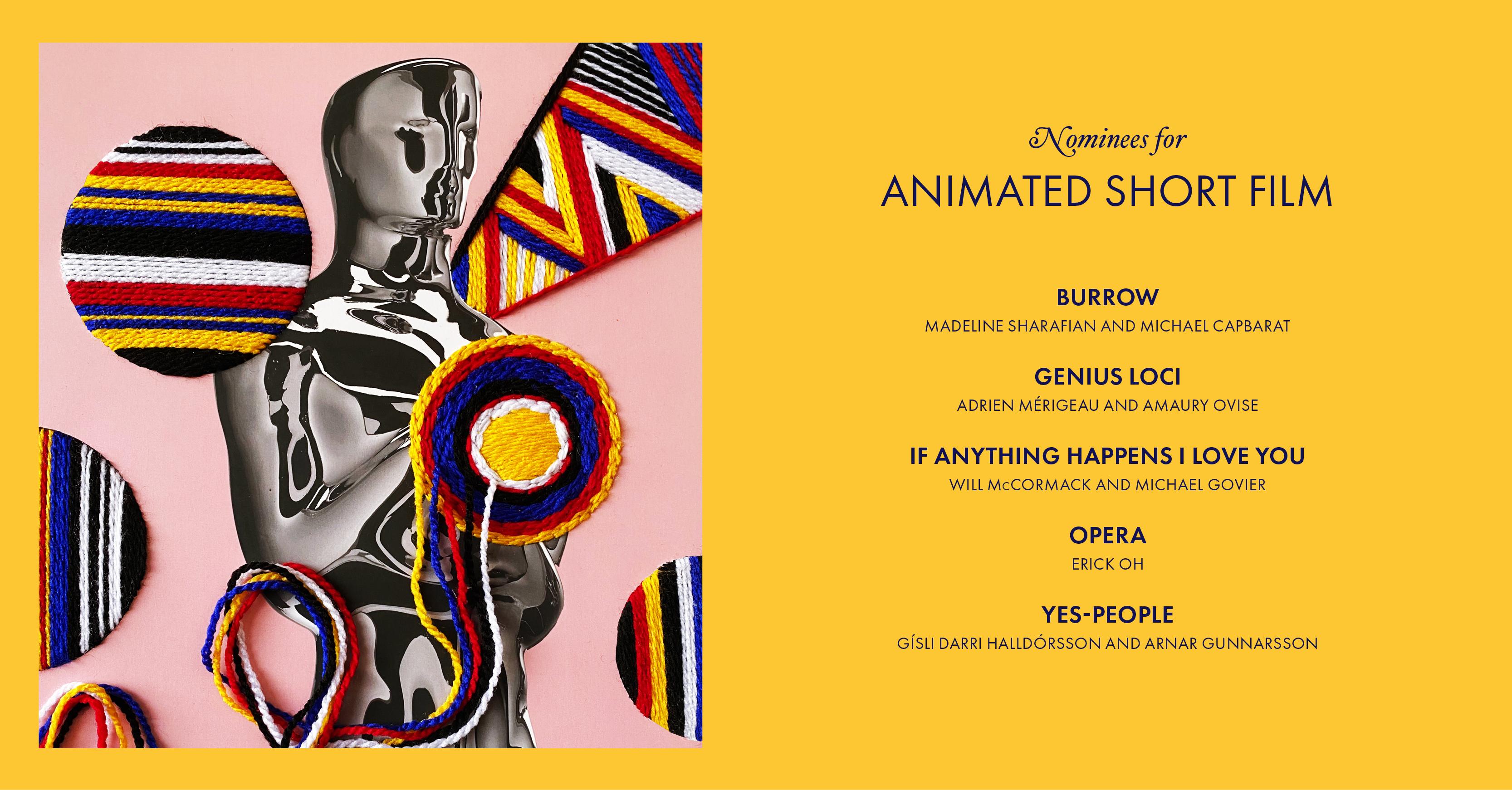 Nominaciones a mejor corto animado