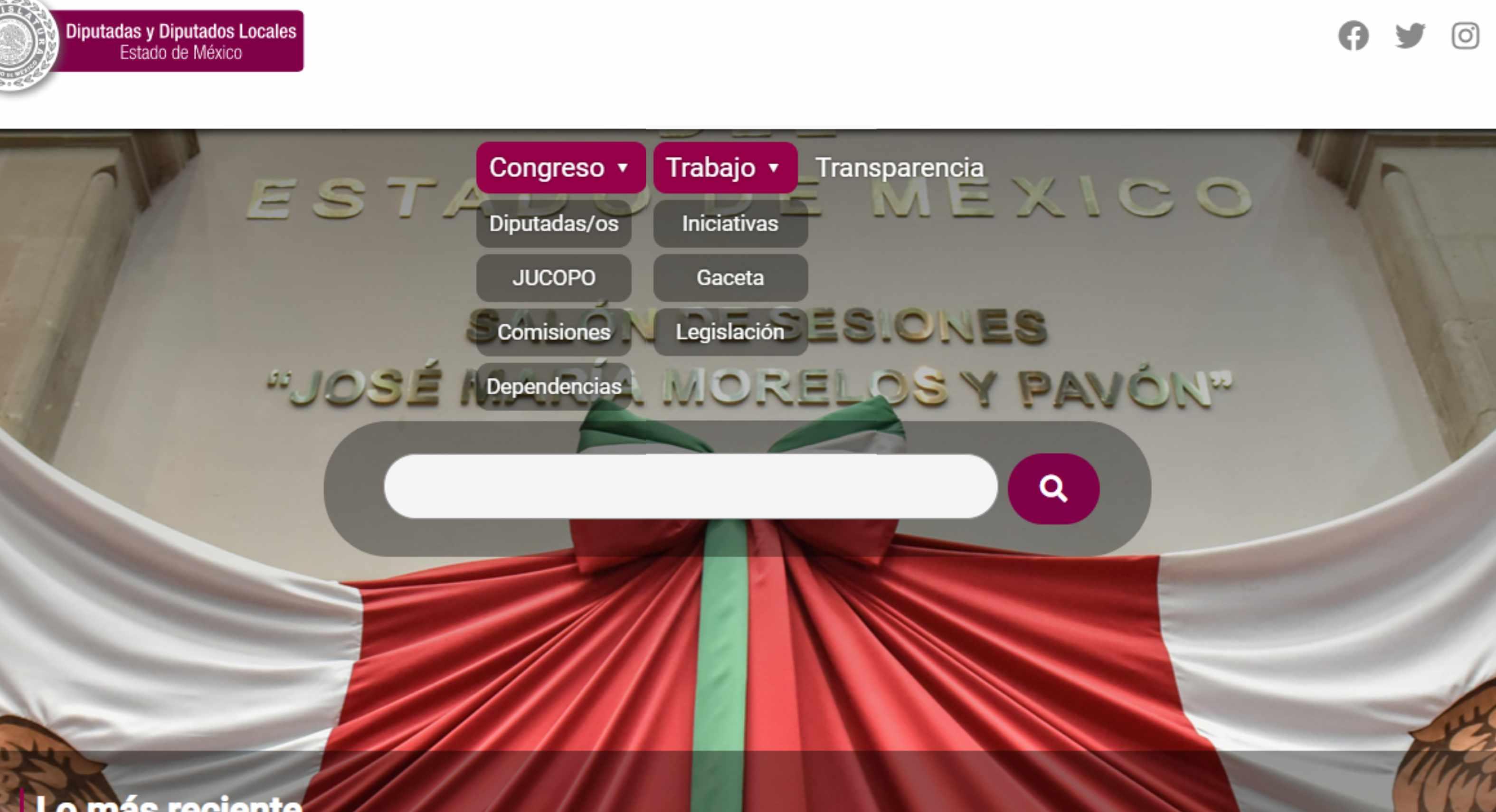 legislatura mexiquense actualiza su página web