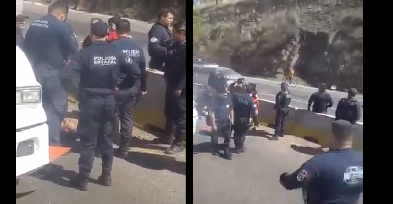 Policías en Michoacán