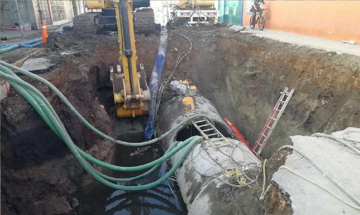 Debido a la afectación que sufrió el acueducto del municipio de Tultepec aproximadamente 600 mil personas se quedaran sin agua aproximadamente 80 horas.