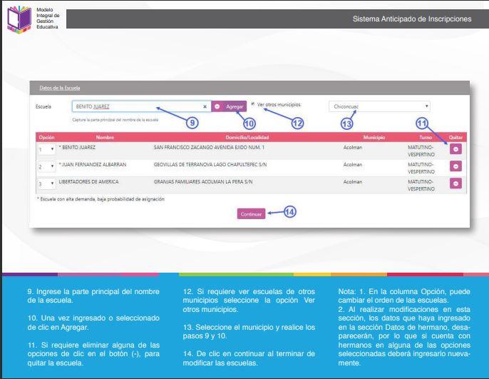 SAID Edomex captura de pantalla del manual de como modificar tus datos.