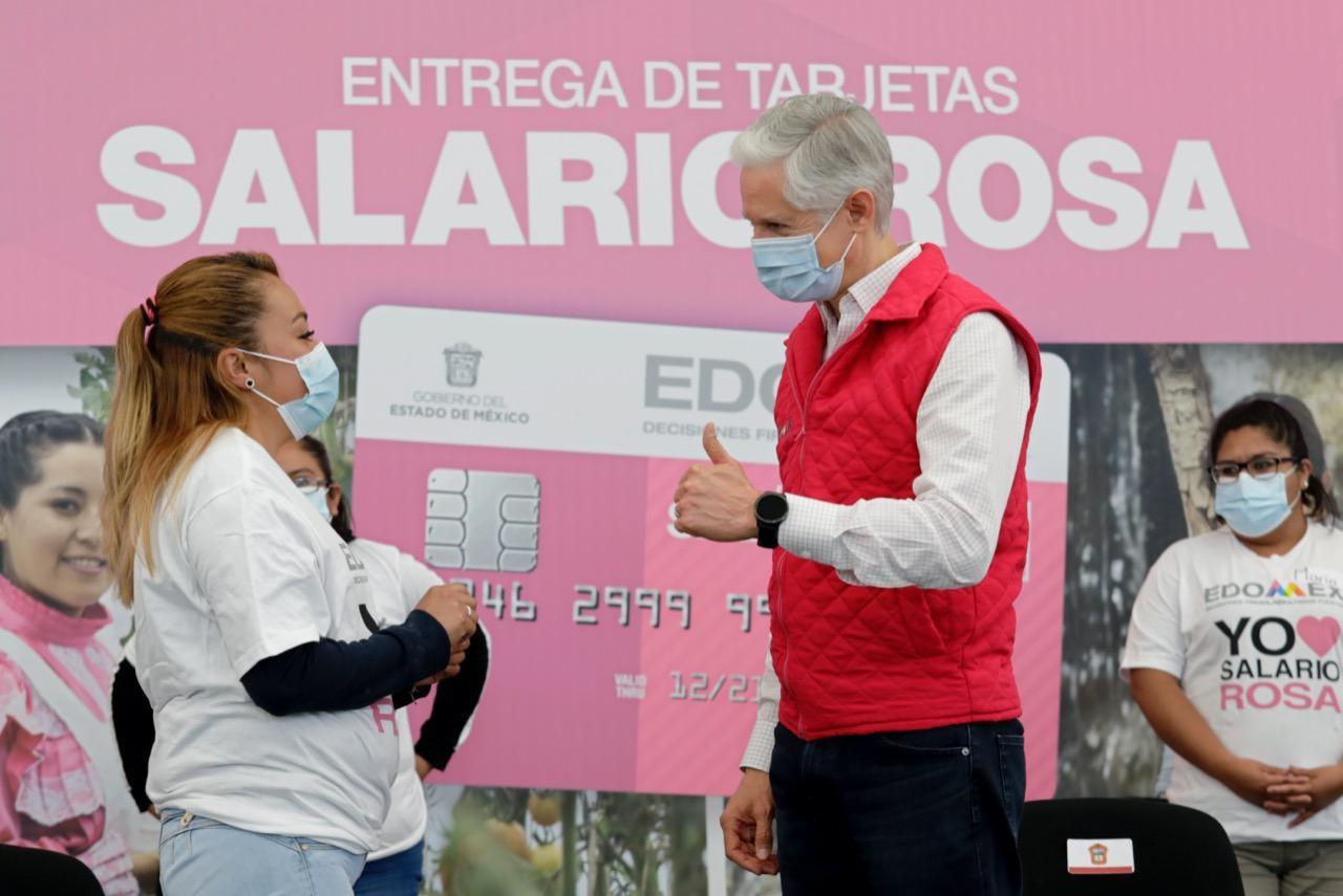 El Salario Rosa es un apoyo estatal de 2 mil 400 pesos que otorga el Gobierno del Estado de México, pues es un programa social y familiar que busca apoyar a mujeres de escasos recursos