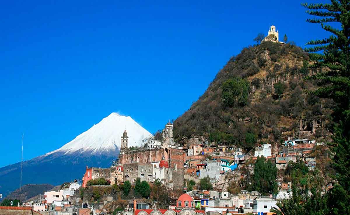 Pueblo de Atlixco en Puebla.