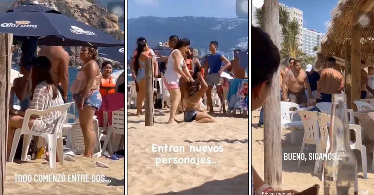 Video viral se arma riña por una chancla