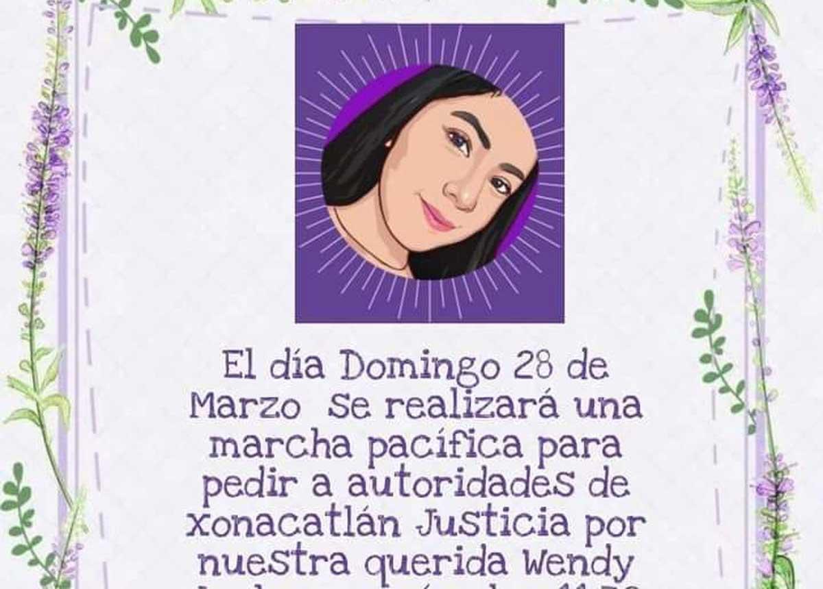Xonacatlán piden justicia para Wendy.