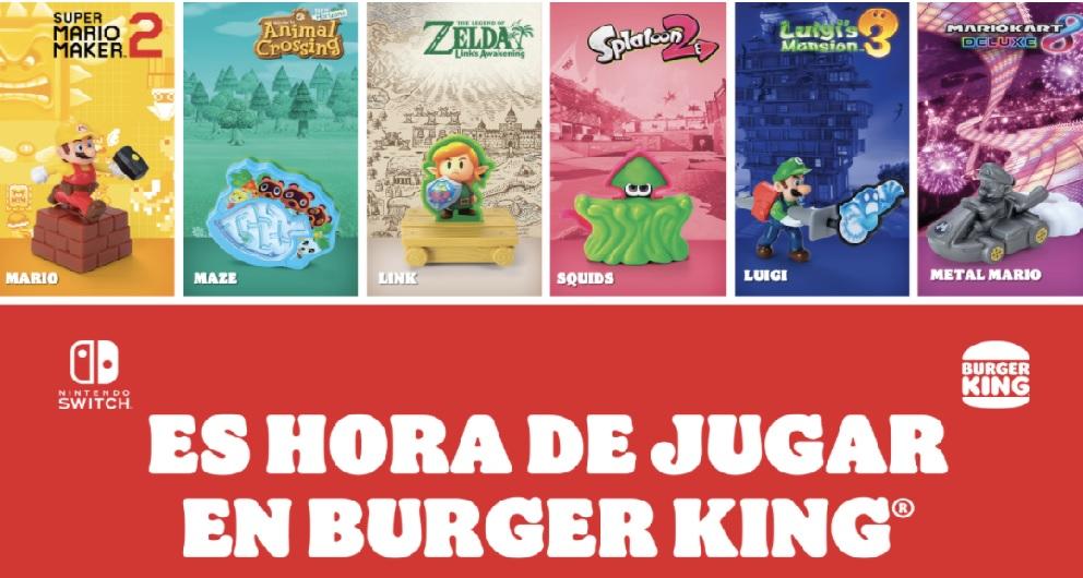 juguetes burger king y nintendo