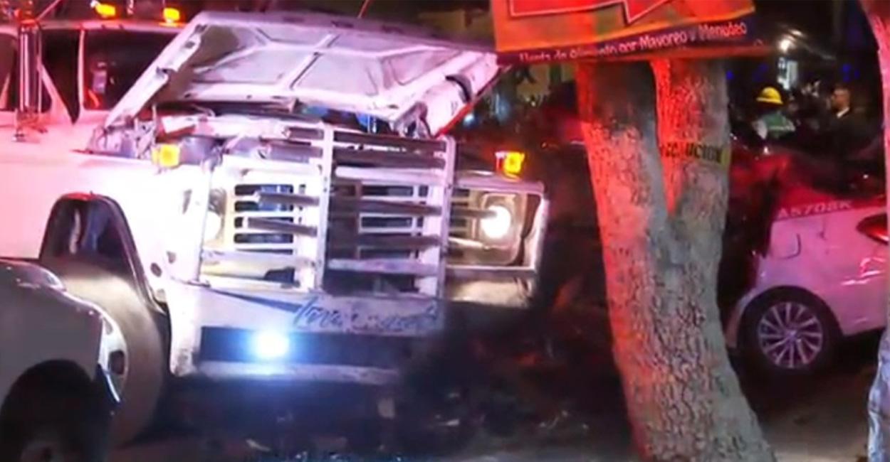 Camión sin frenos en Xochimilco